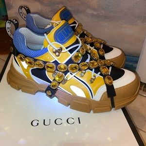 Gucci Flashtrek Sneakers With Crystals